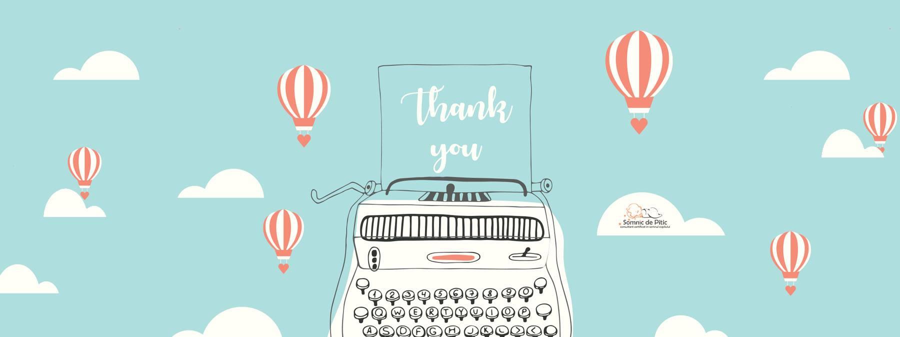 "ilustratie cu ""thank you"""