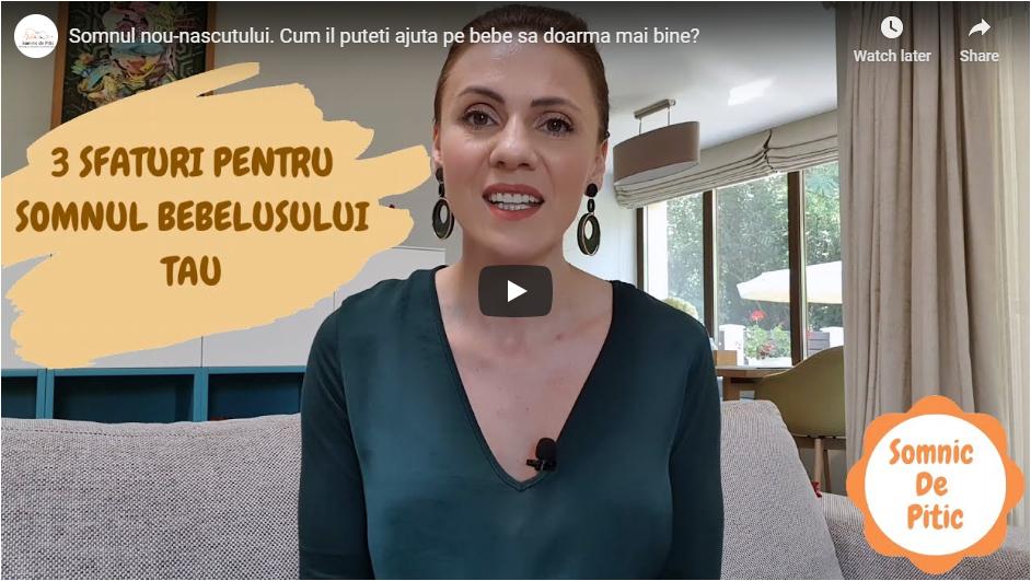 Video – 3 sfaturi pentru somnul nou-nascutului